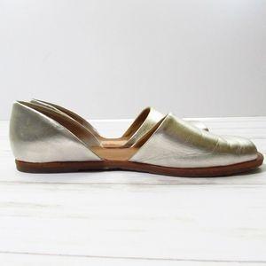 Franco Sarto Metallic Peep Toe Slip-Ons 8.5M